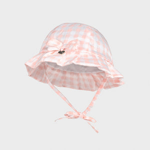 Mayoral Baby Girl gingham sun hat - 9373 090