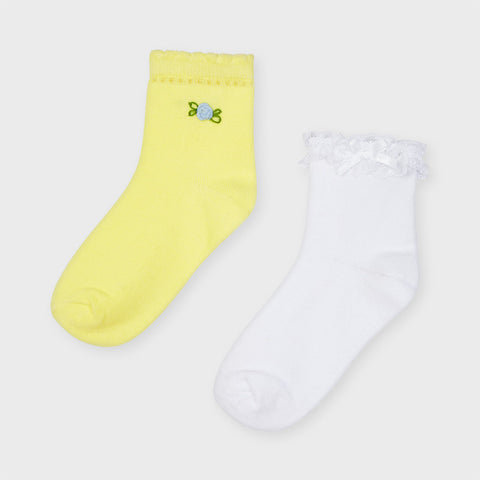 Mayoral Girls set of 2 ankle socks - 10056