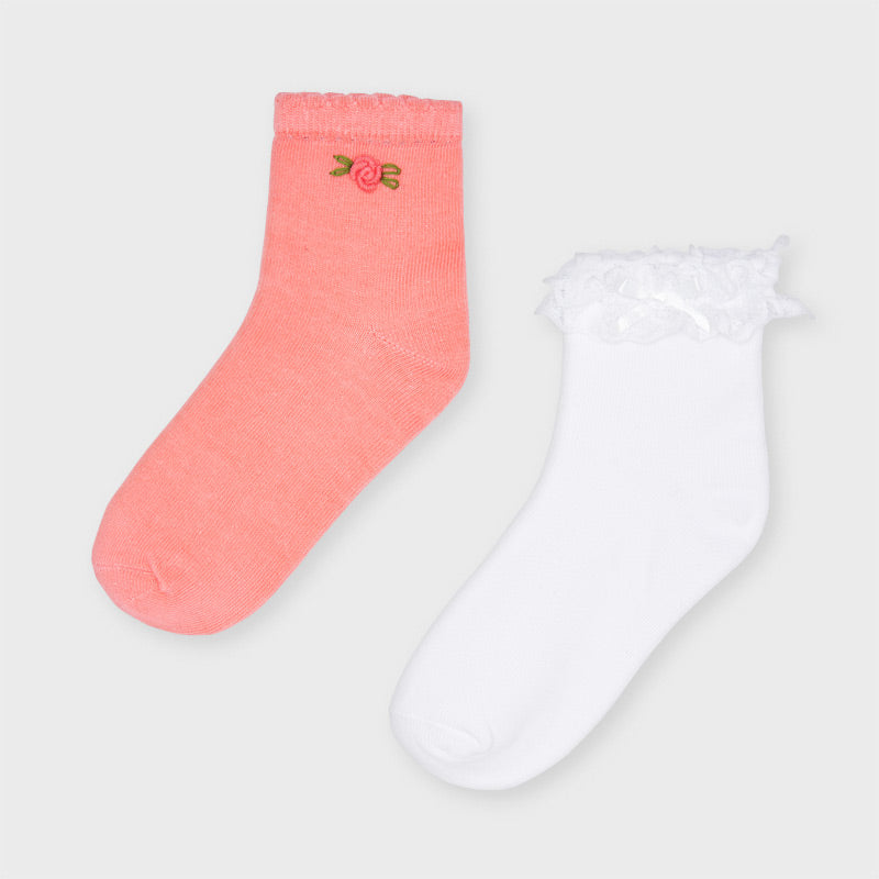 Mayoral Girls set of 2 ankle socks - 10056 012