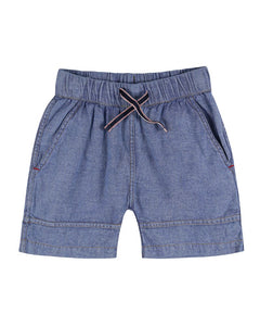 Lilly and Sid Boys chambray soft denim style shorts - 33503