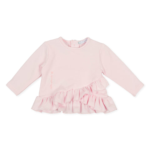 Tutto Piccolo Girls frill sweatshirt - -9726W20