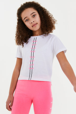 Elle Girls stepped hem t-shirt - ELL0301