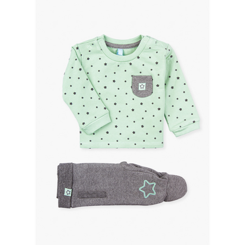 Losan Baby boy brushed fleece star 2 piece
