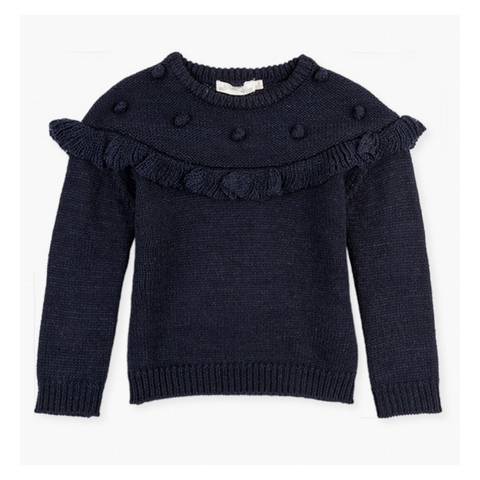 Losan Girls knit jumper with sparkle detail - 026-5792AL