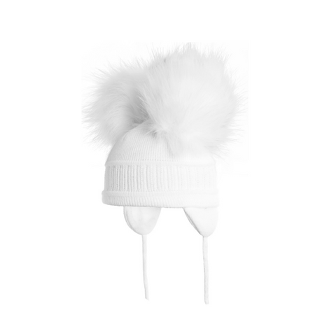 Satila Tindra double faux fur Pom Pom hat - C81807