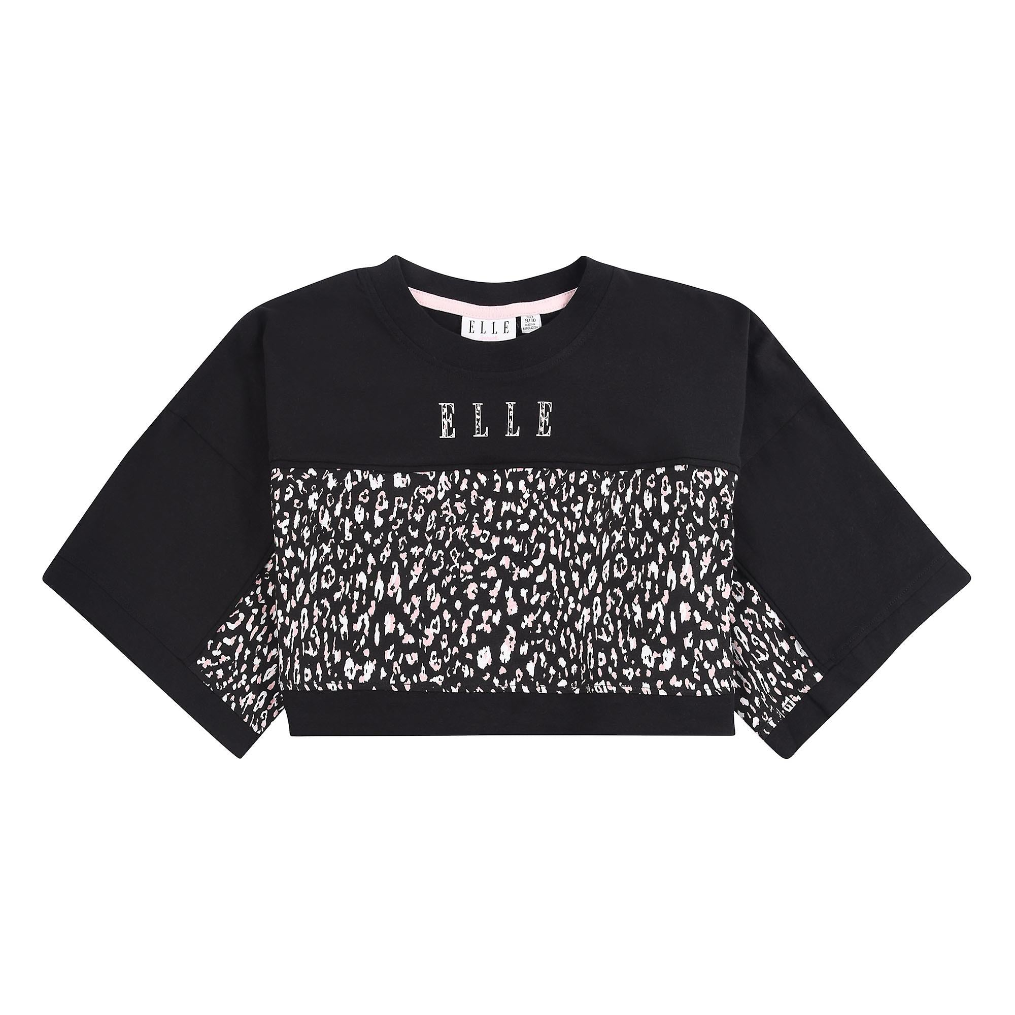 Elle Girls boxy cheetah print t-shirt - ELL0364
