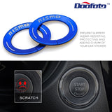 One Button Decoration Ring Covers Car Styling Case For Nissan NISMO Engine Start Stop Sticker Accessories
