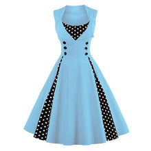 Load image into Gallery viewer, Fashion Women Robe Pin Up Dress Retro Vintage 50s 60s Rockabilly Dot Swing Summer female Dresses