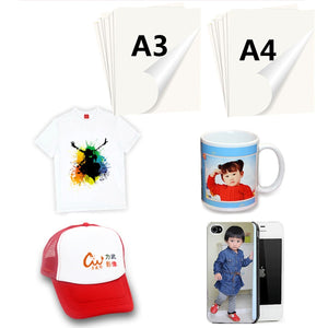 50/100 Sheets A4 A3 Sublimation Transfer Paper For Polyester Cotton T- Shirt