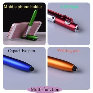 The New Product 4-in-1 Folding Ballpoint Pen Screen Stylus Touch Pen Universal Mini Capacitive Pen  1 PCS