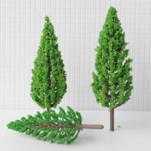 Load image into Gallery viewer, 20pcs/set  4.5~16cm Tower Shaped Green Trees Model Garden Railway Scenery Layout