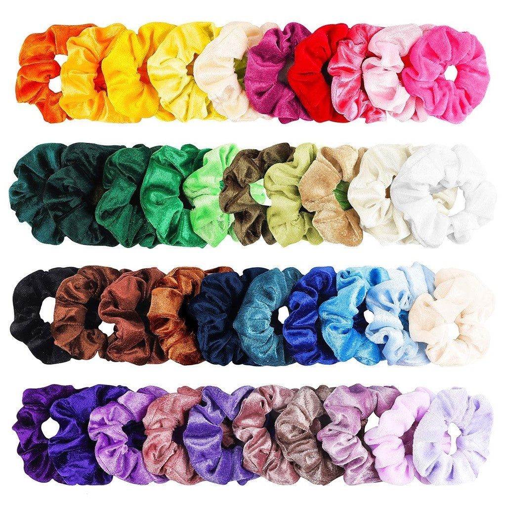 2Style 20/40 Pcs Hair Scrunchies Velvet Elastic Hair Bands Hair Ties Ropes Scrun