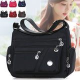 Fashion Women Casual Handbags Shoulder Bag Crossbody Bag Waterproof Nylon Bag