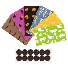 Load image into Gallery viewer, OURWARM PARTY 12Pcs Halloween Paper Gift Bag Party Favor Cookie Candy Bag Gift Wrap with Sticker