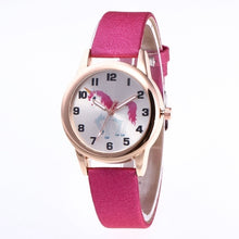 Load image into Gallery viewer, Fashion Women Children Cartoon Unicorn Wrist Watches Kids Girls' Leather Band Alloy Quartz Watch Gift