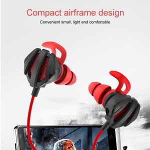 Gaming Earbuds, Gaming E-Sports Earphones Noise Cancelling In-Ear Headphones With Detachable Mic