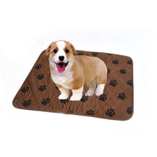 Load image into Gallery viewer, 40*60/70*80/80*90cm Waterproof Reusable Cat Claw Printed Dog Pee Pad Washable Puppy Training Pad Pet Training Floor Mats