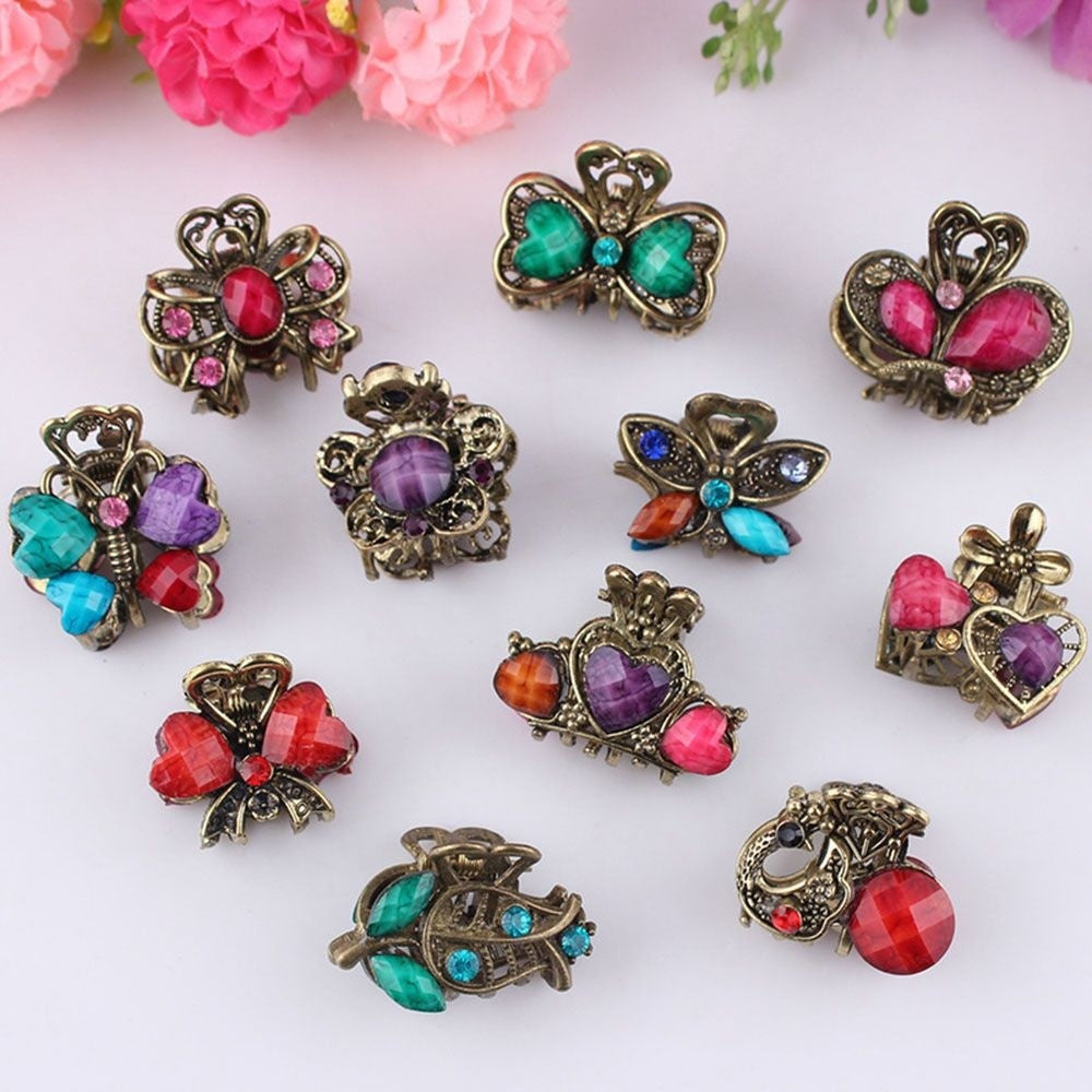 Bridal Jewelry Wedding Retro Hair Styling Tool Hair Accessories Resin Women Barrette Mini Hair Clip Hair Claw Hairpin