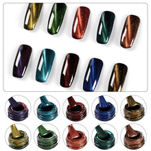 Load image into Gallery viewer, Meet Across 12 Colors Glass Magnetic Gel Polish 7ml 3D Cat Eyes UV Nail Gel Soak Off Long Lasting Varnish