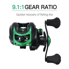 Load image into Gallery viewer, New Bait Casting Reel Fishing Reels with 19+1 Ball bearings with 18 lb Drag Power 9.1:1 Gear Ratio Casting Reels