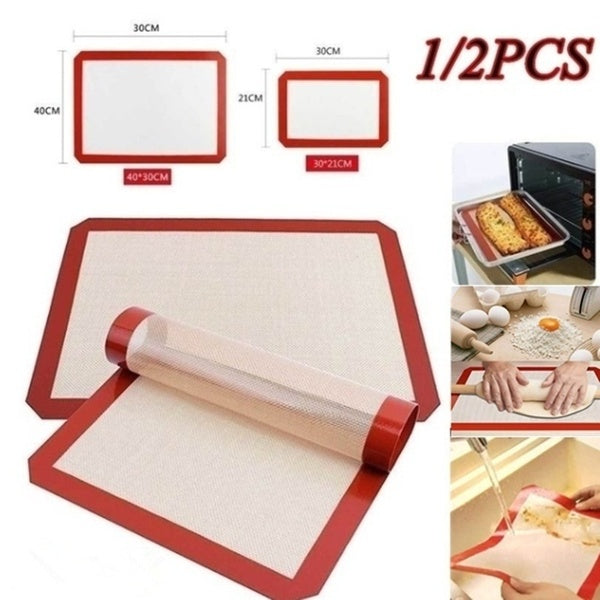 1pc/2pcs Healthy Food Grade Macaron Silicone Pad Durable Silicone Baking Mat Non-stick Biscuit Oven Liner Rolling Silicone Baking Sheet Non Stick Cooking Mats