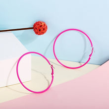 Load image into Gallery viewer, New Simple Geometric Colorful Big Circle Hoop Earrings Personality Round Candy Colors Women Punk Earring Party Jewelry Accessories Gift