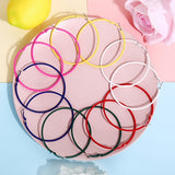 New Simple Geometric Colorful Big Circle Hoop Earrings Personality Round Candy Colors Women Punk Earring Party Jewelry Accessories Gift