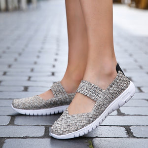 Ceville Brand Women Casual Running Shoes Lady's Sneaker Mesh Fabric Flats Shoes