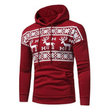 Christmas Sweater Men Long Sleeve Pullover Sweater Reindeer Print Christmas Sweater