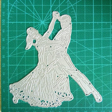 Load image into Gallery viewer, Dancing Couple Metal Cutting Dies Stencils DIY for Scrapbooking Paper Card Craft Embossing Die Cut stamps and dies