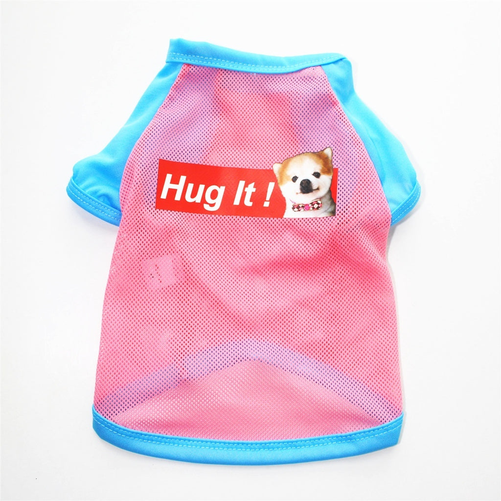 Dog Clothes Breathable Puppy Vest T-Shirt Pet Clothes For Small Dogs Mesh Pets Dogs Clothing