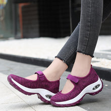 Load image into Gallery viewer, Walking Shoes for Women, Slip On Breathe Mesh Fashion Sneaker Comfortable Casual Wedge Platform Loafers