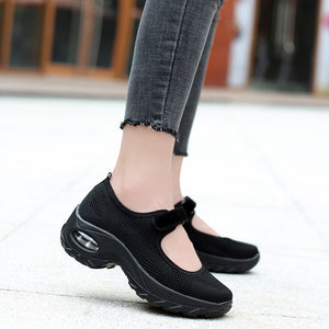 Walking Shoes for Women, Slip On Breathe Mesh Fashion Sneaker Comfortable Casual Wedge Platform Loafers