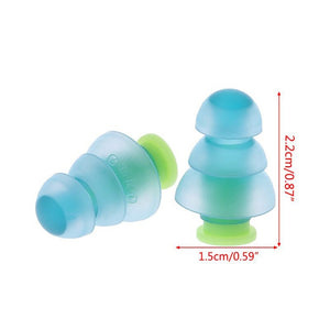 Concerts Soundproof Noise Reduction Noise Cancelling Hearing Protection Silicone Ear Plugs