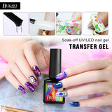 8ml Nail Art Star Starry Sky Transfer Sticker Nail Foils Glue Clear Adhesive French Manicure Tools