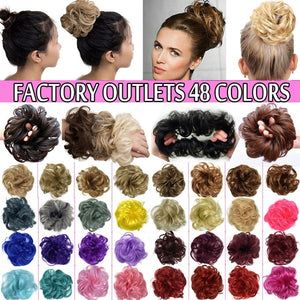 48 Colors Clearance Curly Messy Hair Bun Chignon Hair Piece For Brides Bridesmaid