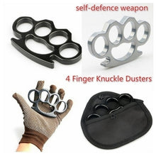 Load image into Gallery viewer, Metal Knuckles Self-defense EDC finger fist buckle Multi-functional  gloves four fingers Tactical Survival  Self Defense Tool