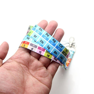 Y1154 The periodic table keys ID Card Gym Mobile Phone Straps USB badge Holder DIY Phone Hang Rope Lanyard