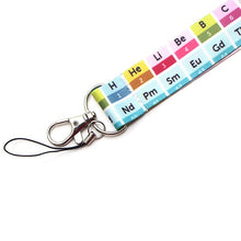 Load image into Gallery viewer, Y1154 The periodic table keys ID Card Gym Mobile Phone Straps USB badge Holder DIY Phone Hang Rope Lanyard