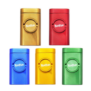 Honeypuff Aluminum Grindcase Pinch Hitter Tobacco Grinder Combo Kit Dugout Pipe with Storage Box