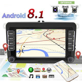 Android 8.1 Double Din 7'' Touch Screen GPS WIFI Car Stereo FM AM Radio Receiver for VW Seat Skoda