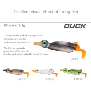 Bass Fishing Lures 10cm Topwater Lures Duck Fishing Soft Baits With Splash Feet