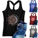 Women's Fashion Printed Sleeveless Graphic Tee Shirts Summer Casual Tank Tops Vest