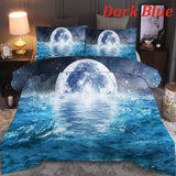 3D Digital Printed Sea 6 Colors Bedding 2/3 Pcs/Set Duvet Cover & Pillowcase Set With Zipper Closure 10 Size Single Double Twin Full Queen King Size Comforter Cover