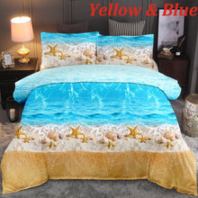 Load image into Gallery viewer, 3D Digital Printed Sea 6 Colors Bedding 2/3 Pcs/Set Duvet Cover & Pillowcase Set With Zipper Closure 10 Size Single Double Twin Full Queen King Size Comforter Cover