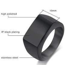 Load image into Gallery viewer, Black Gold Silver Color Stainless Steel Mens Rings For Boy and Boy Friendship Men Simple Ring Jewelry