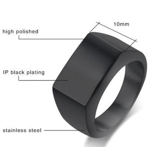 Black Gold Silver Color Stainless Steel Mens Rings For Boy and Boy Friendship Men Simple Ring Jewelry