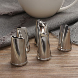 DIY 5 Pcs/Set Metal Rose Cupcake Pastry Icing Piping Nozzles Stainless Steel Cake Cream Decorating Tips Baking Tools
