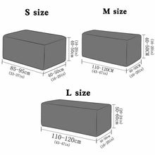 Load image into Gallery viewer, 8 Colors Elastic Pedal Cover Stretch Storage Ottoman Slipcover Rectangle Footstool Sofa Cover for Living Room