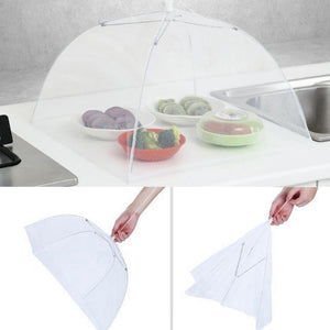 2pcs Large Pop-Up Mesh Screen Protect Food Cover Tent Dome Net Umbrella Picnic New Umbrella Style Food Covers Anti Fly Mosquito Meal Cover Table Home Using Food Cover Kitchen Gadgets